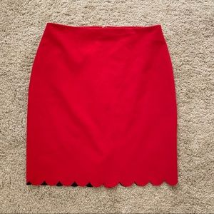 Banana Republic Scallop Skirt